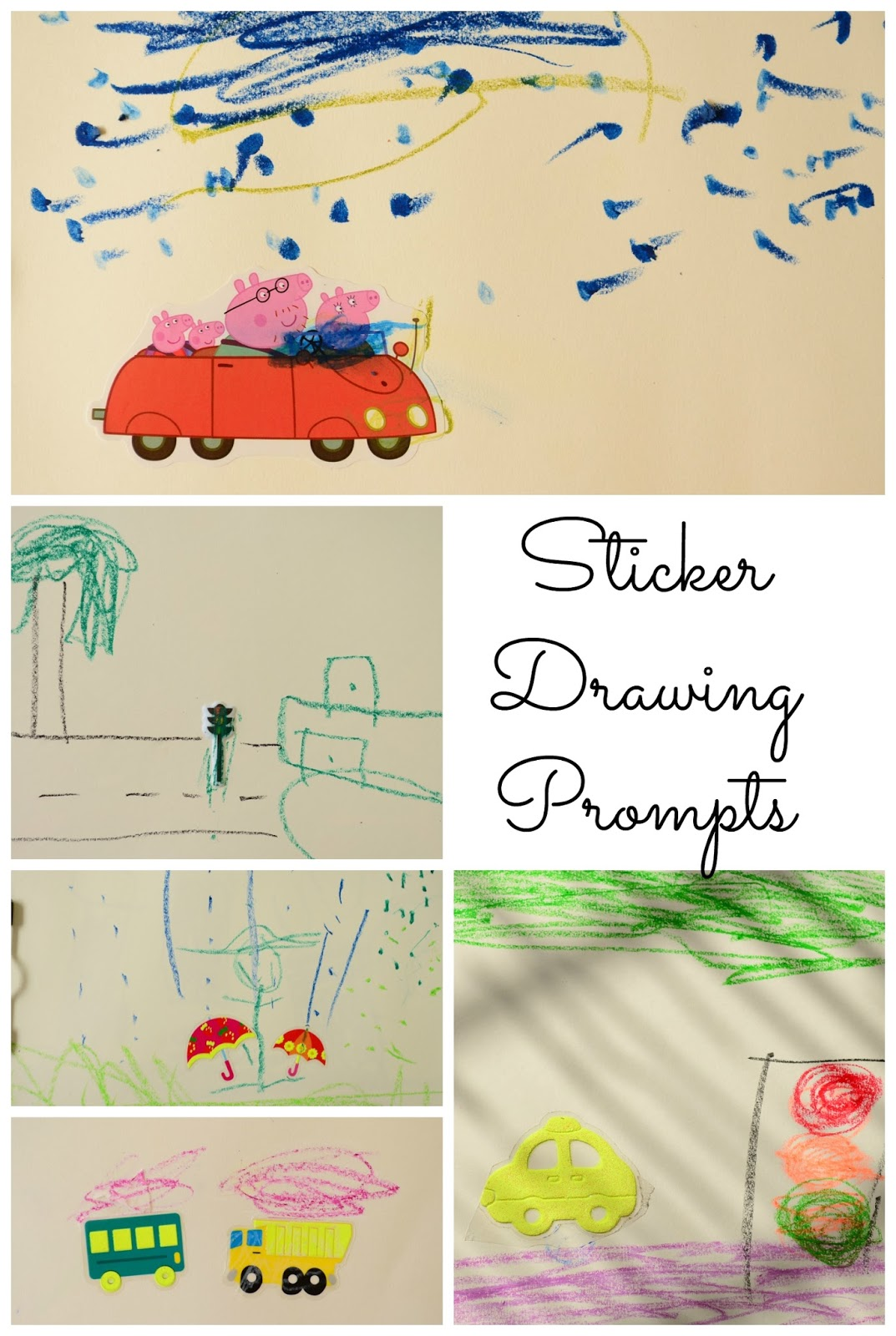 The Practical Mom: Sticker Drawing Prompts