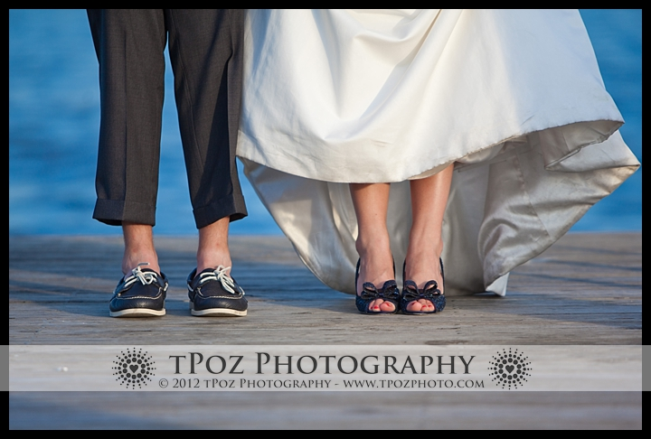 Boat shoes & heels at an Annapolis Maritime Museum Wedding