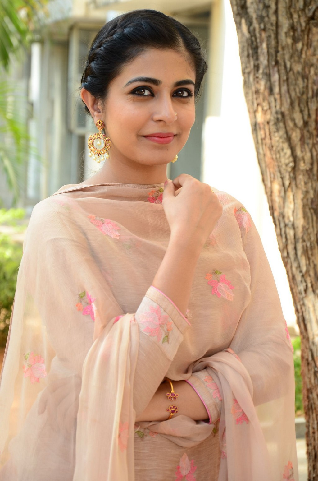 Leona Lishoy looks super cute Punjabi look in Patiala Suit at Telugu movie Edureetha Teaser Launch