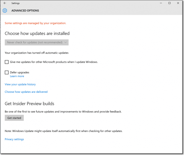 how to turn off automatic updates windows 10 anniversary edition