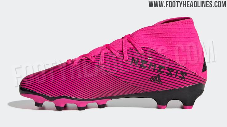Pinke Adidas Nemeziz 19 Hard Wired Fussballschuhe Ohne