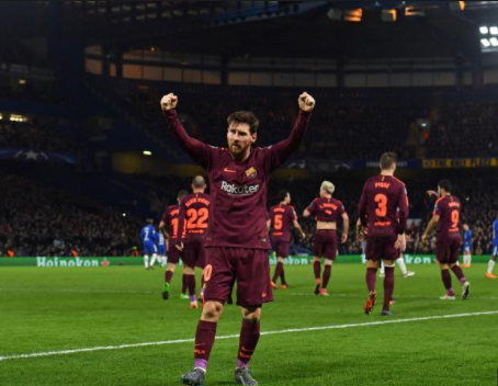 Lionel Messi scores against Chelsea for the first time in his career