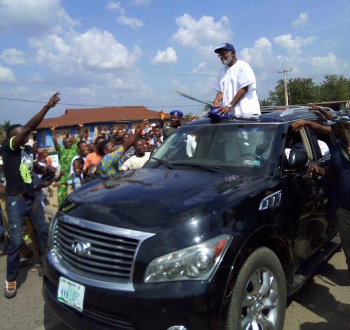 Photos: Rotimi Akeredolu celebrates victory after winning 2016 Ondo governorship election