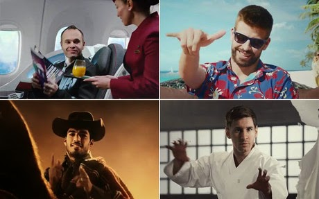 Imágenes de la nueva campaña de Qatar Airways con el FC Barcelona