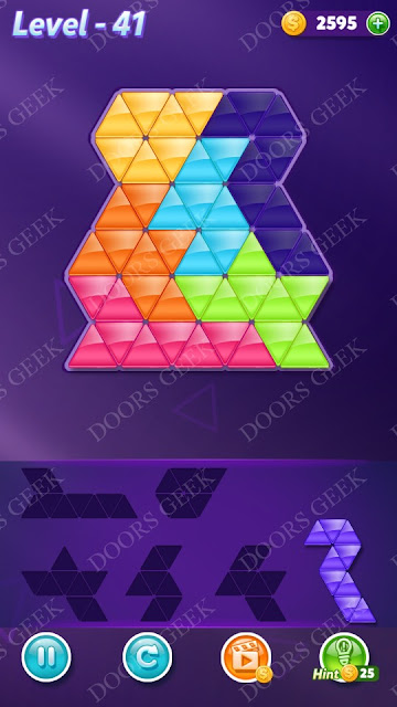 Block! Triangle Puzzle Intermediate Level 41 Solution, Cheats, Walkthrough for Android, iPhone, iPad and iPod