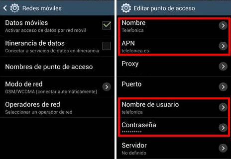 Configuración de APN Movistar