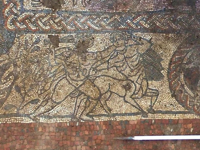 Rare Roman mosaic with Greek mythology scenes found in England