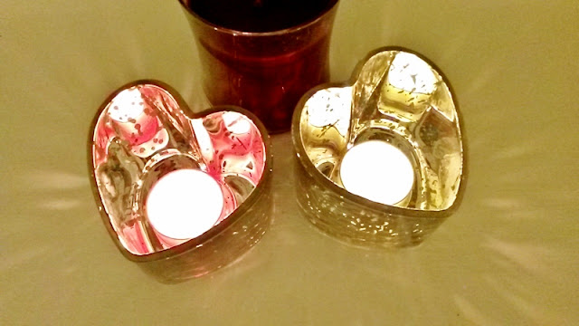 Heart shaped tea light holders