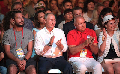 Vladimir Putin during the 15th Koktebel Jazz Party international festival.