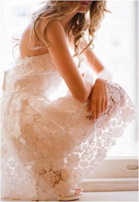 foto de vestido com renda