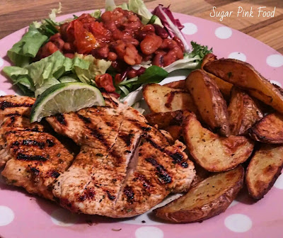 Mexican Turkey Steaks & Herby Garlic Wedges slimming world recipe
