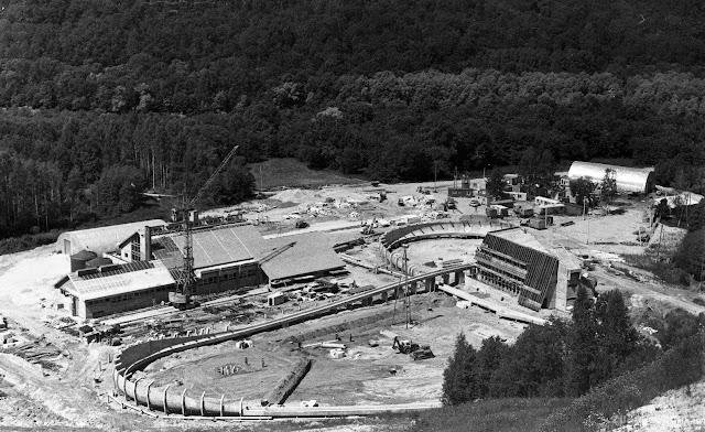 1987 год. Сигулда. Строительства санно-бобслейной трассы (автор фото: Gints Vītols)