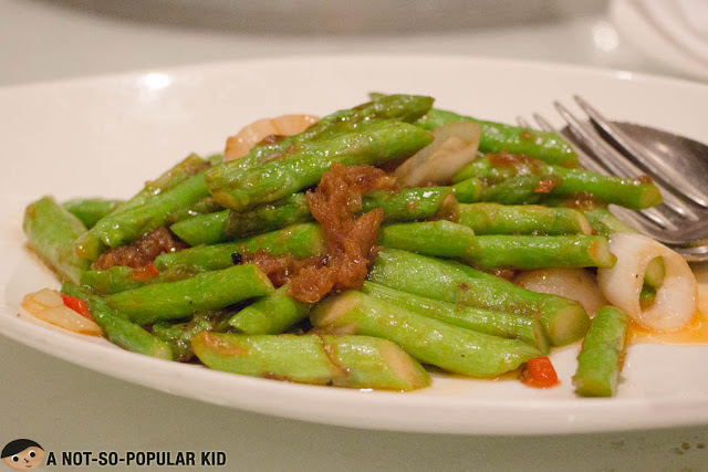 Sauteed Scallops with Asparagus in XO Sauce