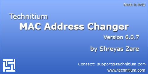 Technitium MAC Address Changer V6 (TMAC)