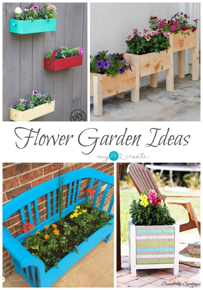 12 great ideas of how use planters to make a flower gardens around your home