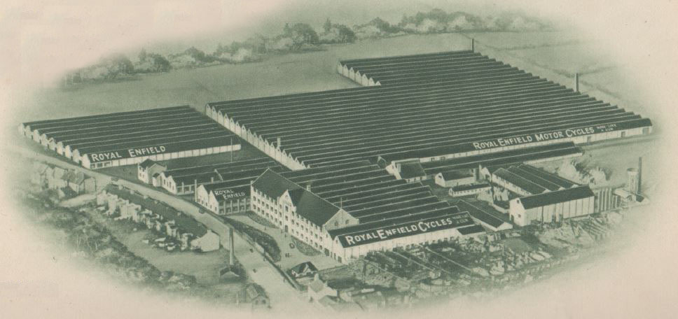 Aerial drawing of factory site.