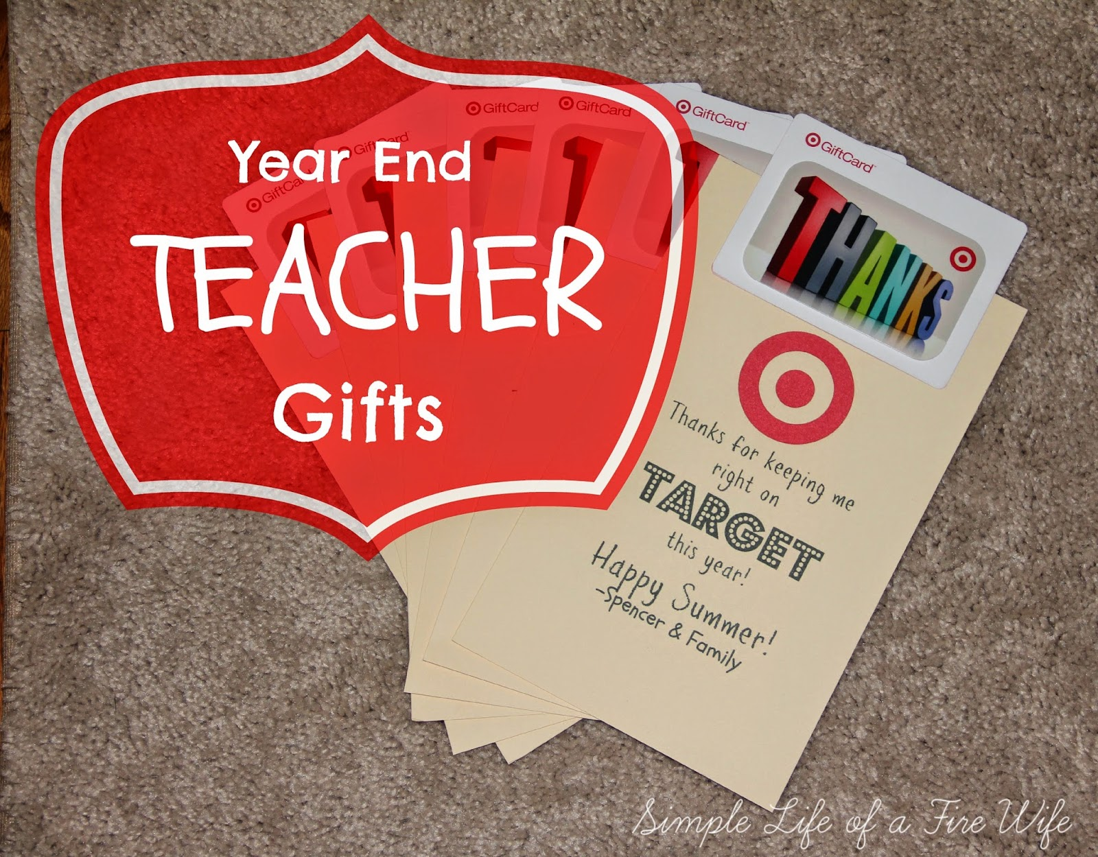 Simple Life Of A Fire Wife Teacher Gifts