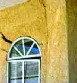 Symptom of foundation settlement on collapsible soil