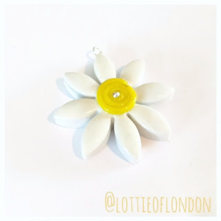 New Polymer Clay Makes - Daisy Charm coming in the New Year by Lottie Of London