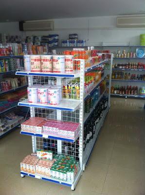 Hoàn thiện kệ để hàng siêu thị cho anh Dẫn tại Hưng Yên
