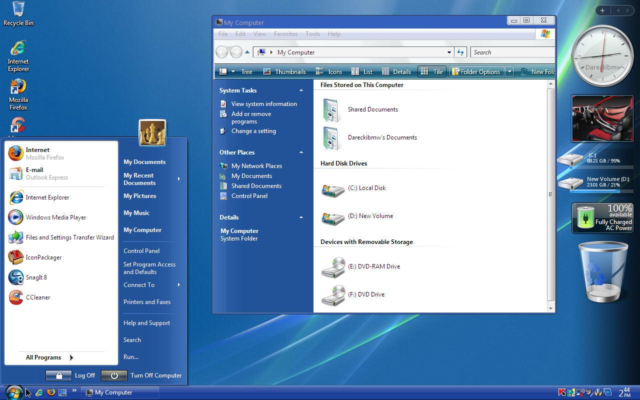 Windows Xp Pro Sp3 Vistavg Black Blue Ultimate Style
