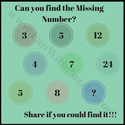 Missing Number sequence Puzzle