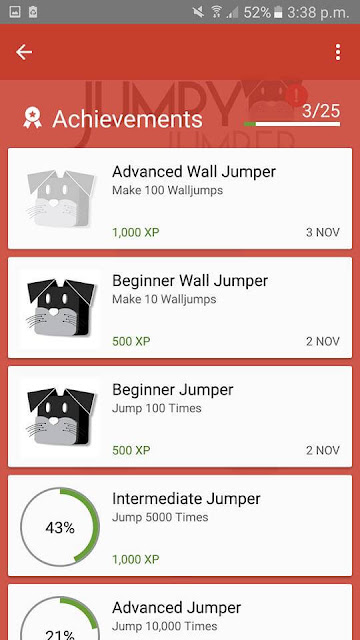 Jumpy Jumper arcade android game achievements