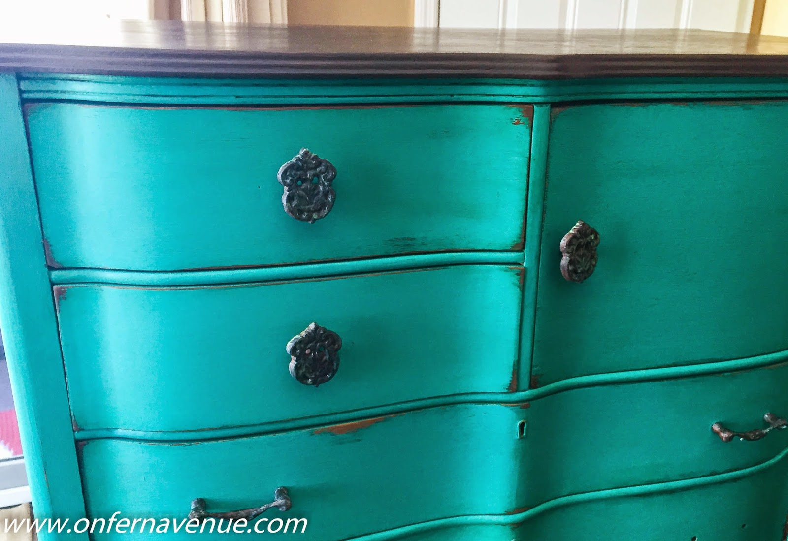 On Fern Avenue Green Patina Dresser