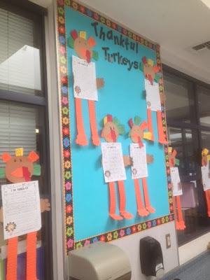 turkey craftivity, a perfect hallway display