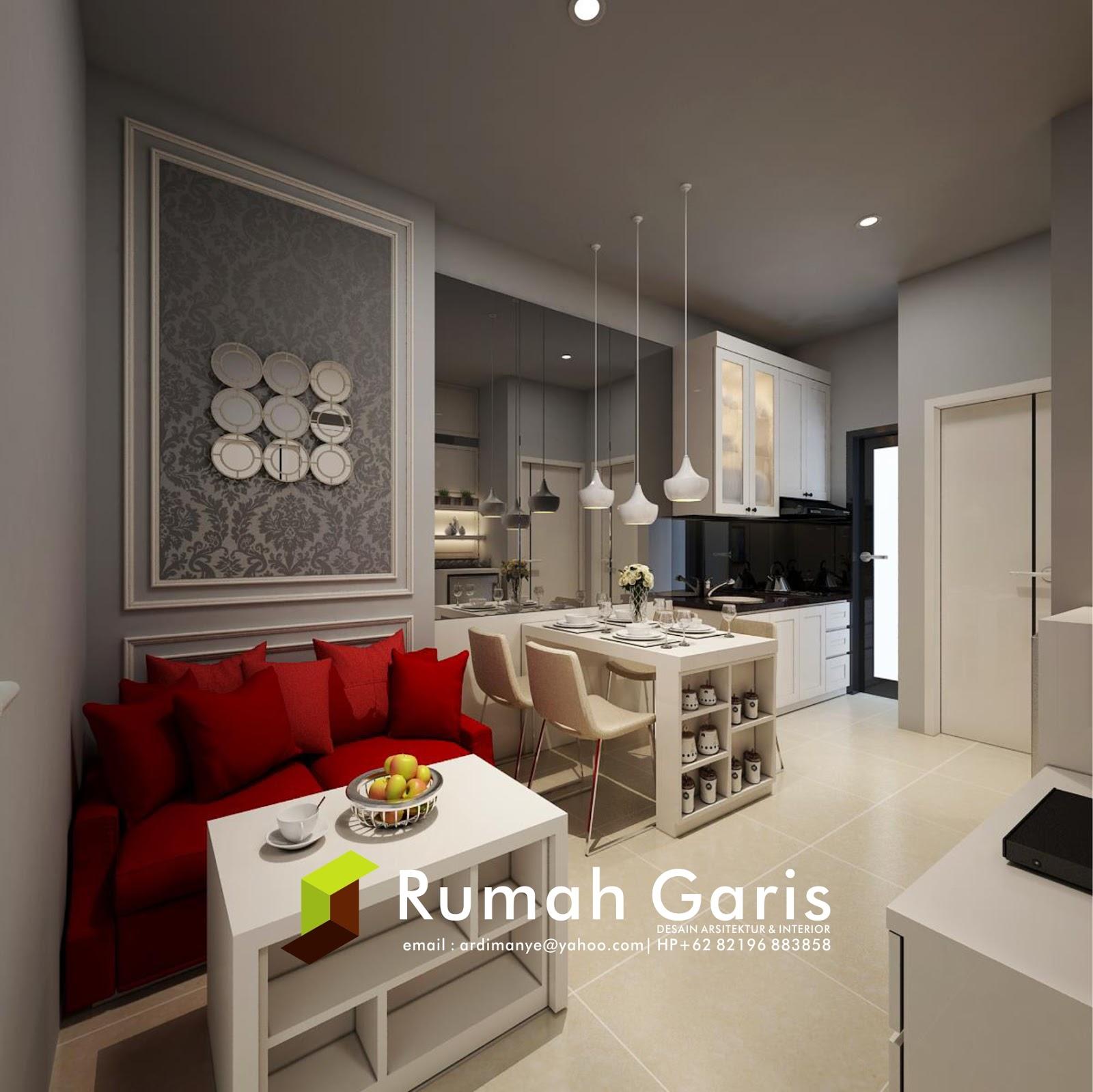 Desain Interior Apartemen Modern Rumah Garis