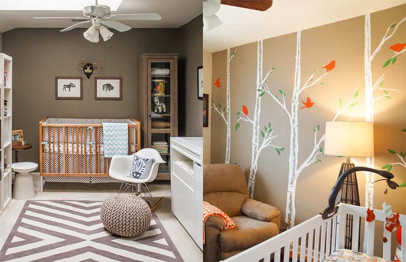 Marrom = seu melhor amigo na hora de pintar quarto de criança