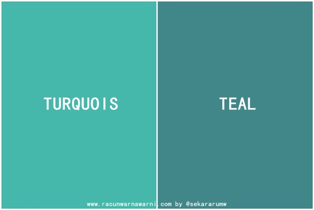 Turquois vs Teal