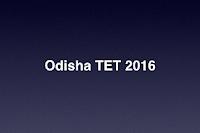 Odisha TET 2016