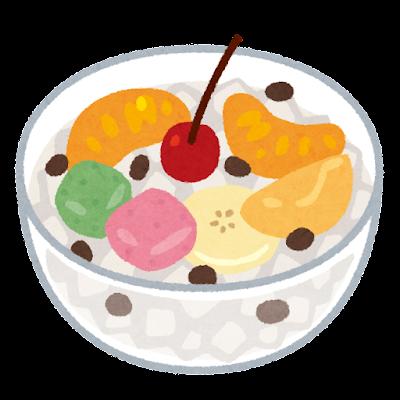フルーツみつ豆のイラスト