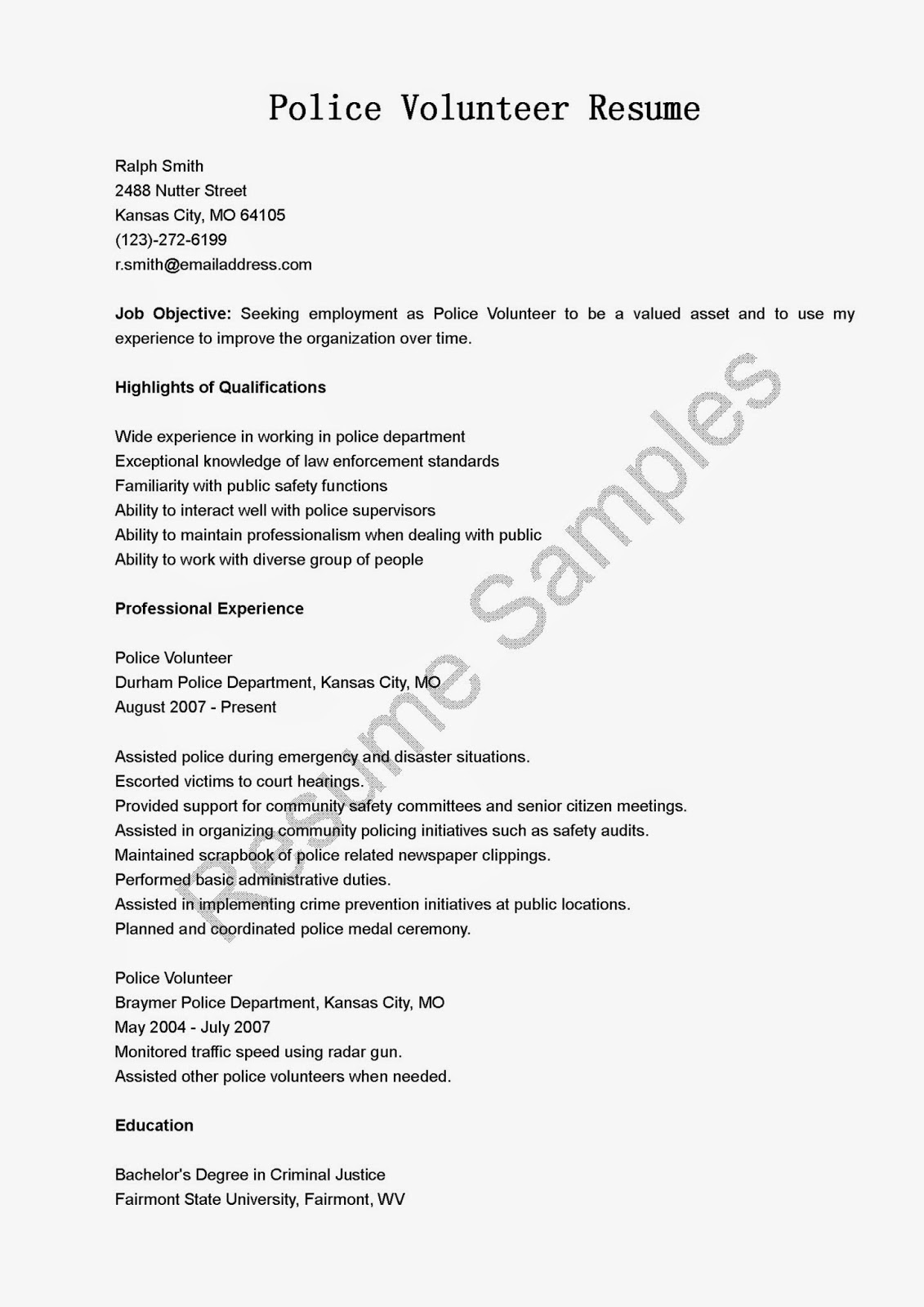 Volunteer Resume Sample Galerella Ribbed For Her Resume Animal  MyPerfectResume Com Resume Template Gray Timeless Timeless  Objective Ideas For Resume