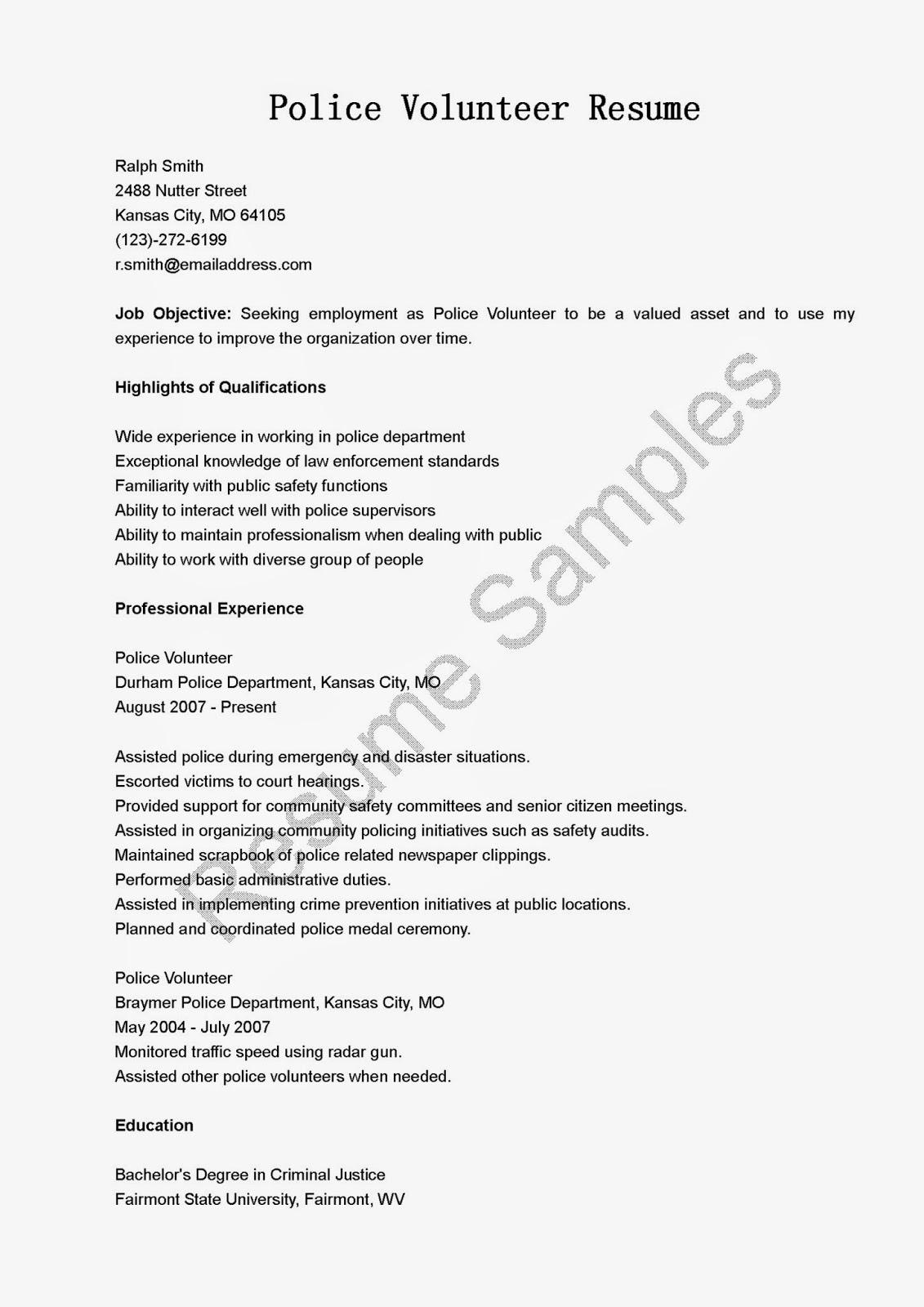 Sample Resume for a MilitarytoCivilian Transition
