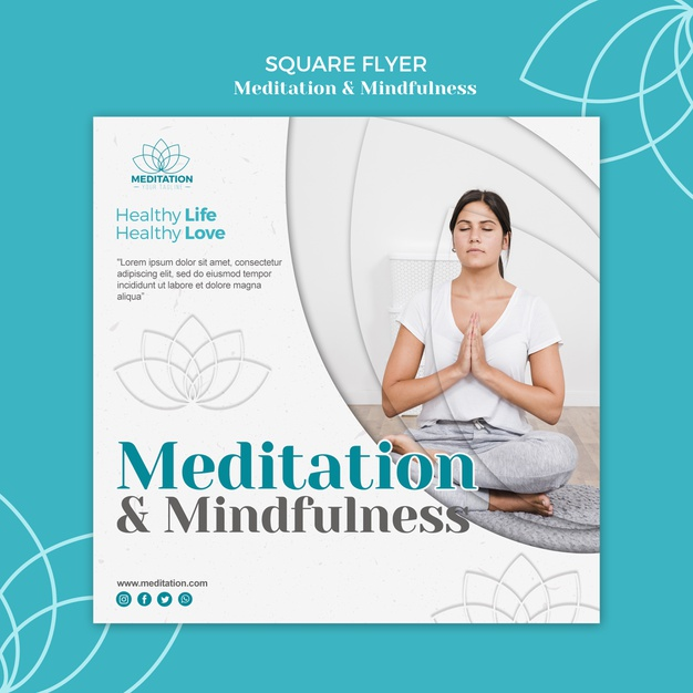 Meditation flyer template Free Psd