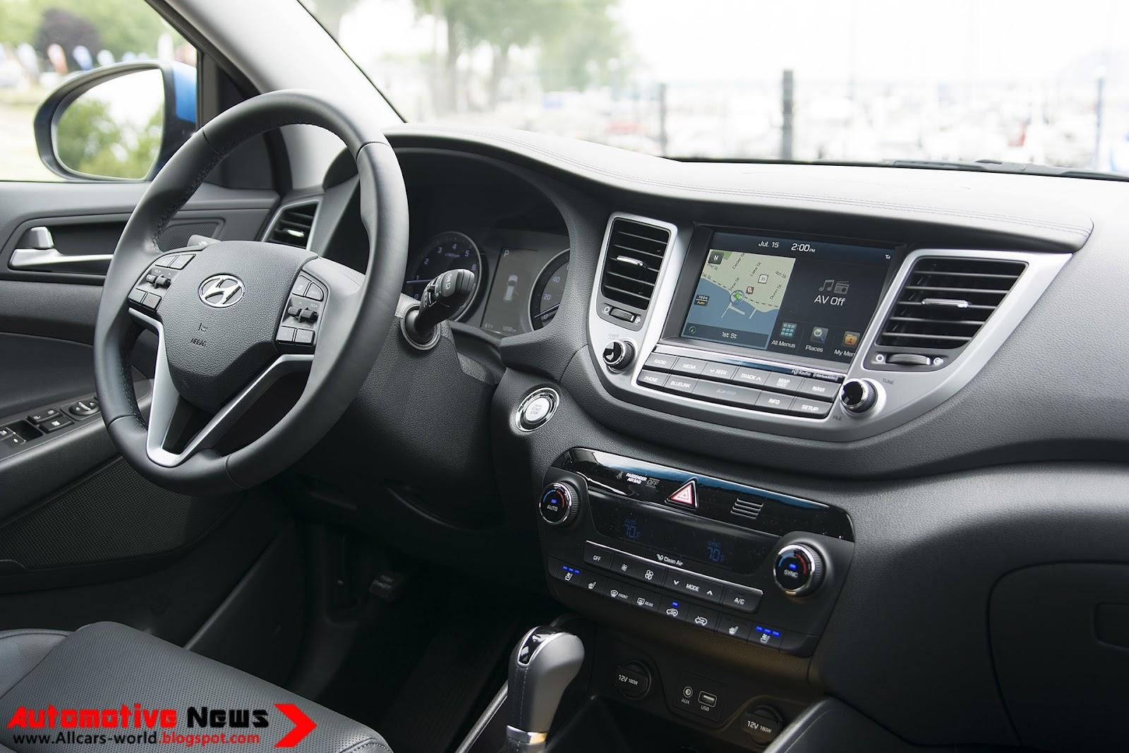 Automotive news 2016 hyundai tucson review - Hyundai tucson interior pictures ...