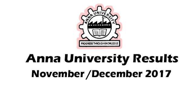 Anna University Results 2018 - coe1.annauniv.edu