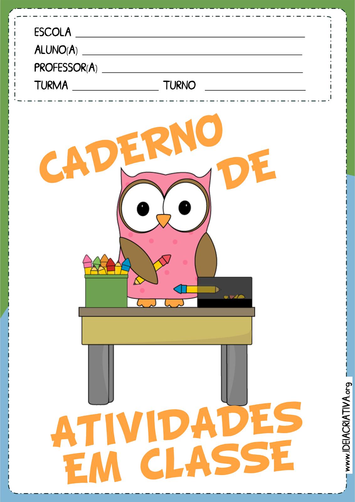 Resultado De Imagem Para Capas De Cadernos Coloridas De Classe E