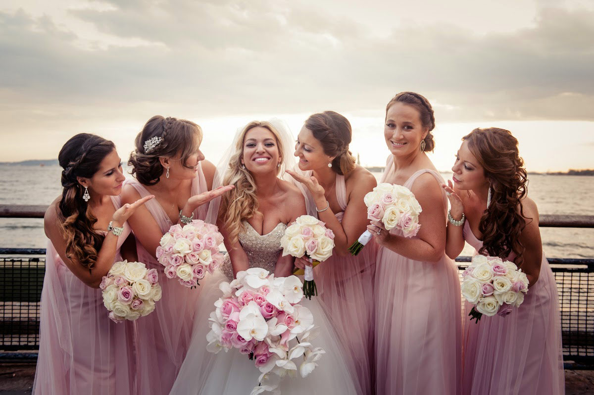 Bride with her crew.
