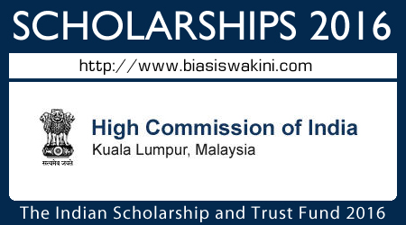 The Indian Scholarship & Trust Fund 2016 - Biasiswa ISTF