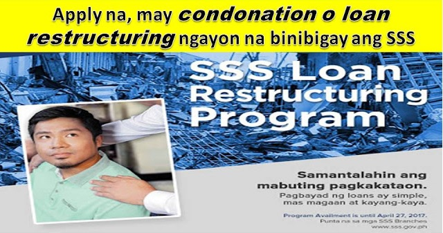 How to Apply for SSS Loan Restructuring Program or Condonation Loan - You Should Knows