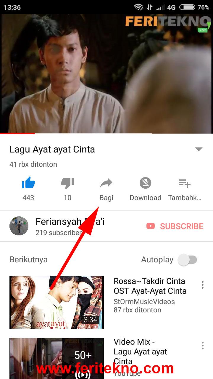 cara menyimpan video download dari youtube