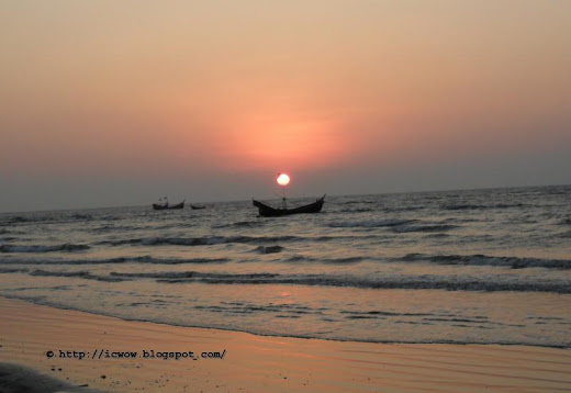 Sunset in St Martin's Island, Bangladesh