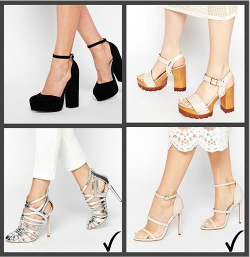 zapatos para faldas largas