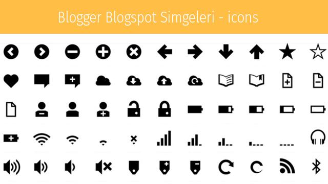 Blogger blogspot simgeler