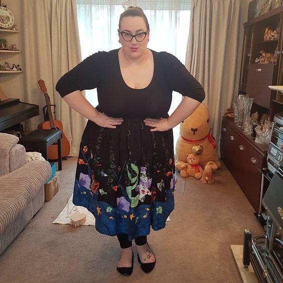 Pin up Girl Mermaid plus size skirt