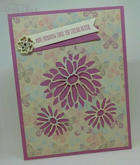 Hope tomorrow finds you feeling card created with Stampin' Up! Stylish Stems, vote for Darla Olson at inkheaven