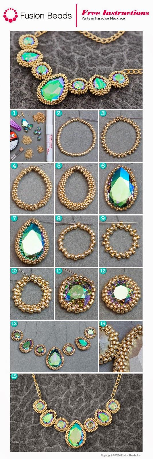 Массивное ожерелье своими руками: как сделать модный аксессуар самой